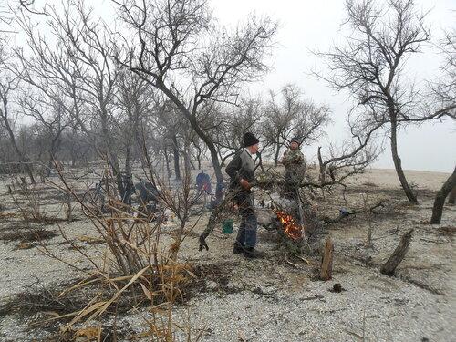 На берег косы Ясенской. 2014-01-08