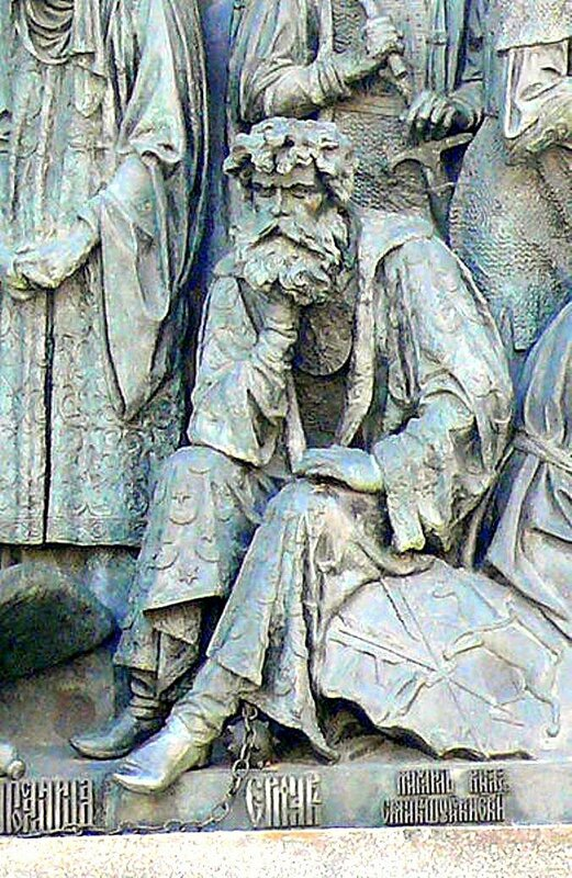 Атаман Ермак на Памятнике «1000-летие России» в Великом Новгороде.jpg