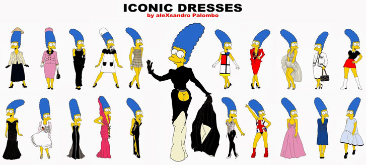 Marge Simpson as a Style Icons in aleXsandro Palombo illustrations