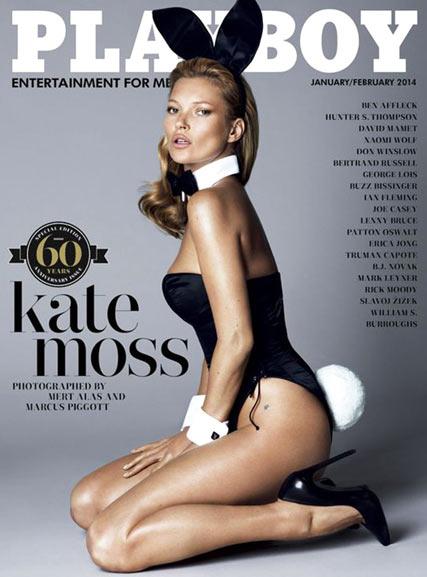 Кейт Мосс в юбилейном номере журнала Playboy / Kate Moss by Mert & Marcus in Playboy's 60th Anniversary Issue / january-february 2014