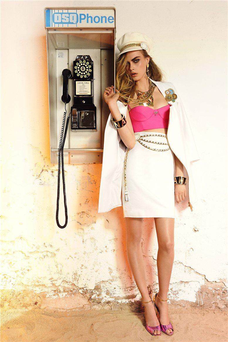 Cara Delevingne / Кара Делевинь в каталоге модной одежды Dsquared Pre-Spring 2013