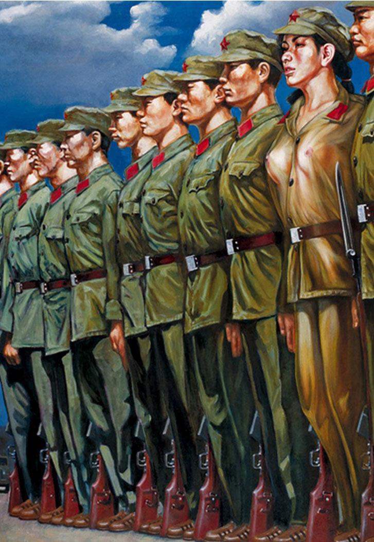 работы художницы Hu Ming - сексуальные девушки из Народно-освободительной армии Китая