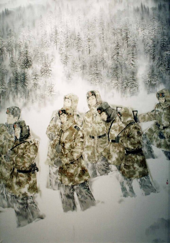 Солдаты среди снегов