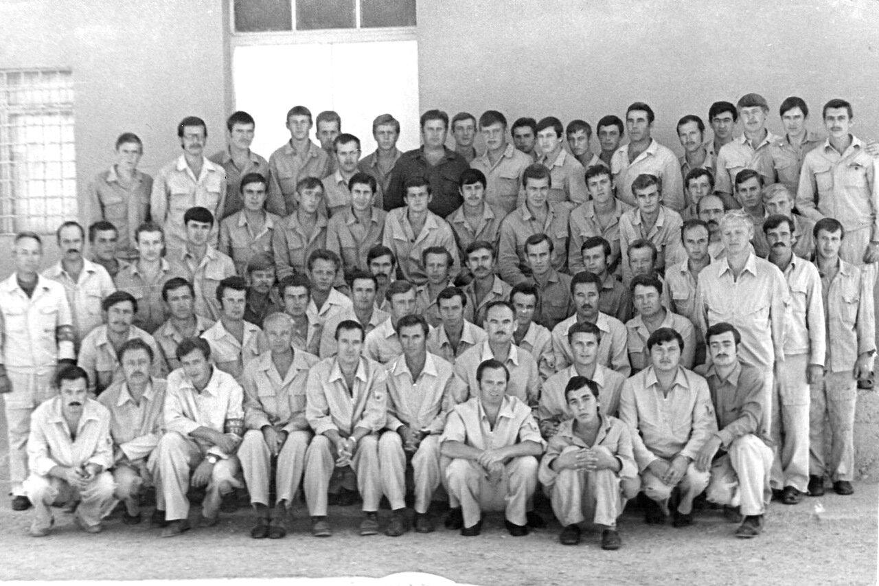 1978. Сирия. Тифор. Командир отряда Кулинич,Коротков, замполит Шевченко