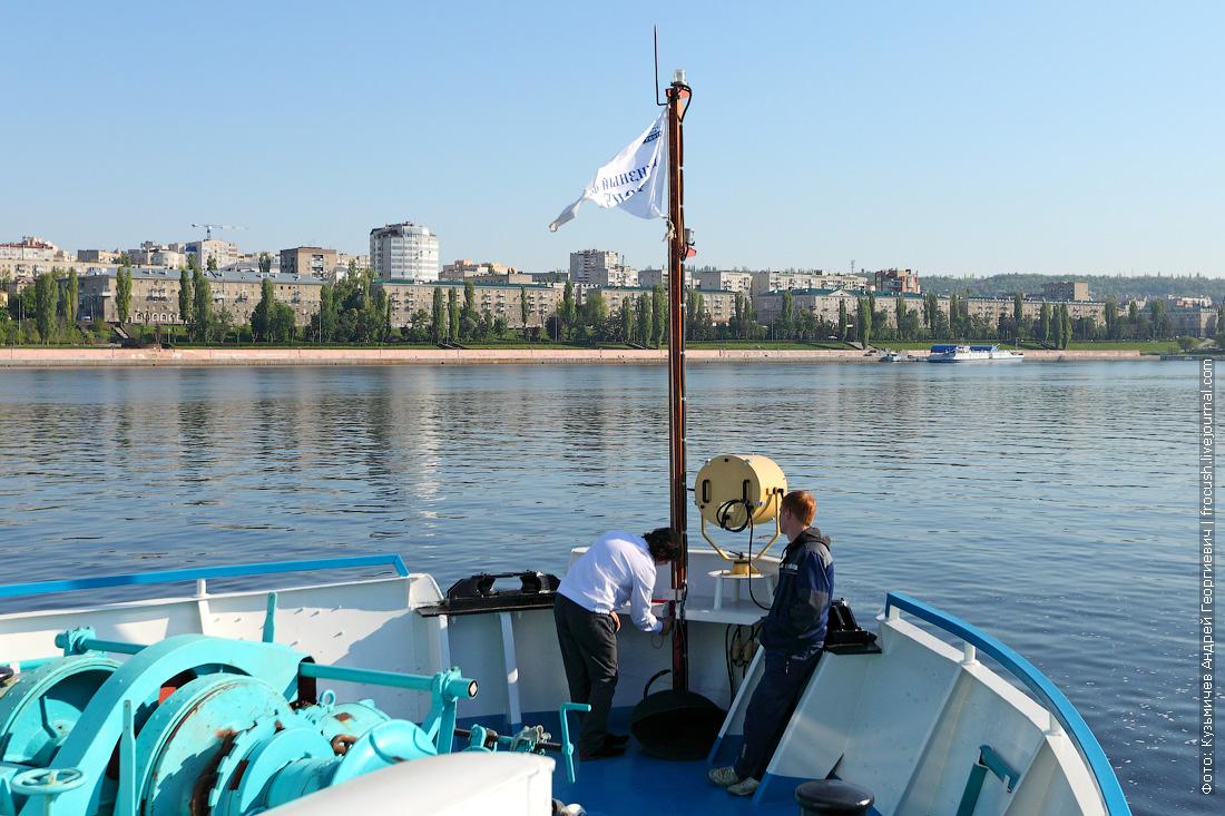теплоход Русь Великая подходит к Саратову 13 мая 2015 года