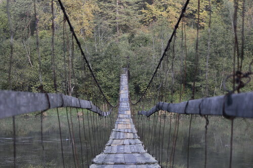 висячий мост в Кусе Челябинской области
