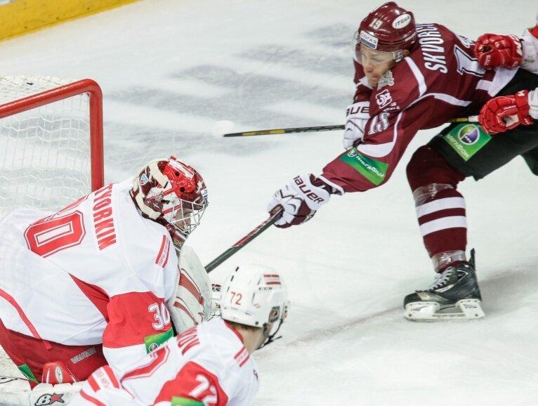 «Динамо» (Рига) vs «Спартак» 3:2 чемпионат КХЛ 2013-2014 (Фото)