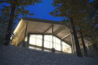 3D визуализация дома в лесу