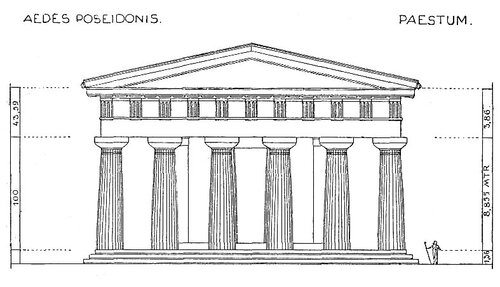 Храм Геры II в Пестуме (храм Посейдона), фасад