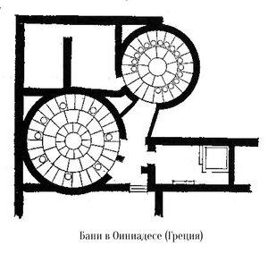 Бани в Оиниадесе, план