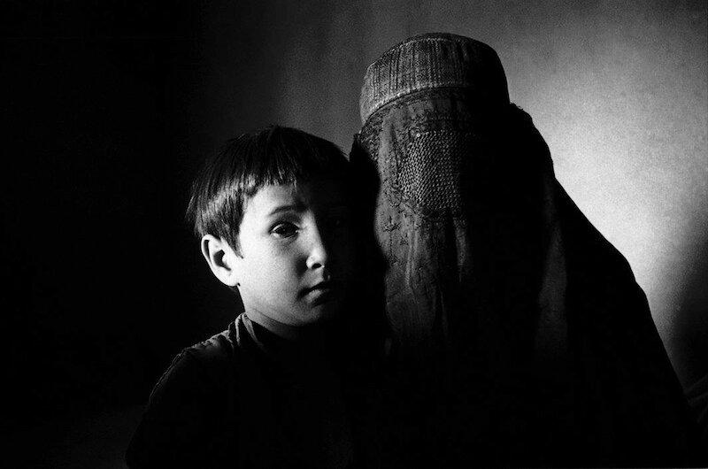 Dasht-e-Qala,Takhar Province: November 2000 Mother and son.