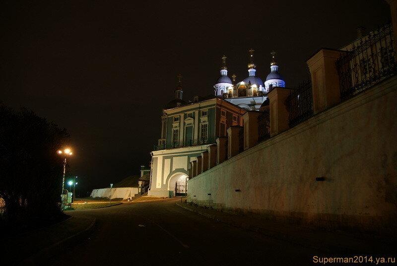ночной Смоленск - Успенский собор