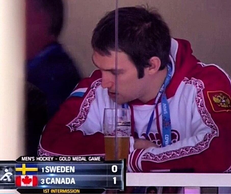 Хоккей. Матч за первое место... Александр Овечкин и... пиво