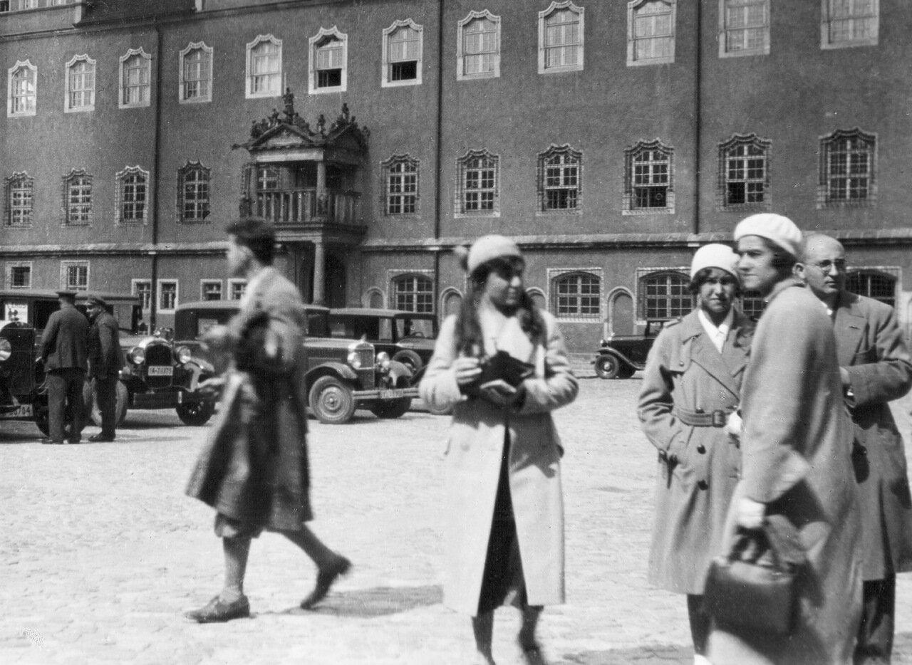 1932. Виттенберг, возле ратуши