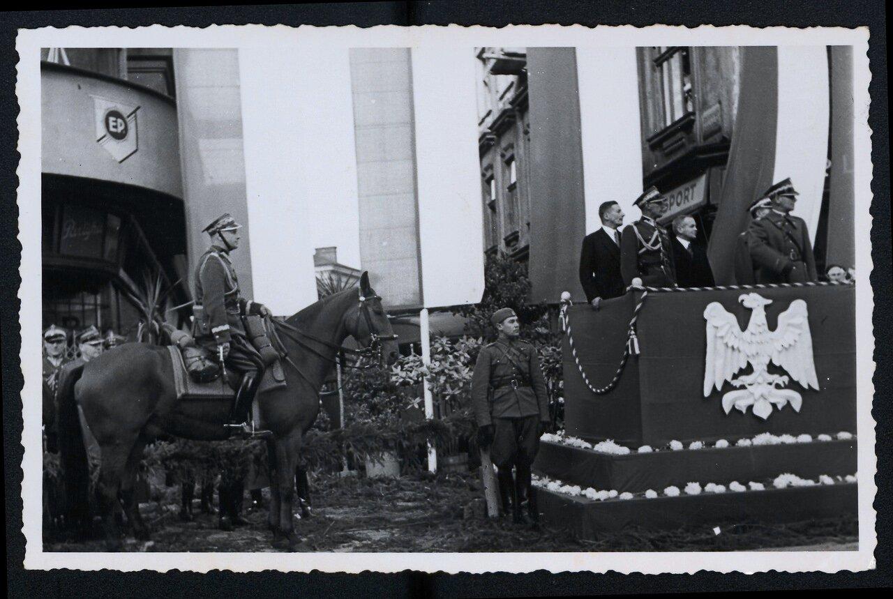 Торжественная церемония по случаю аннексии в Чески-Тешине