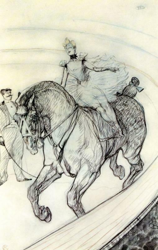 Лошади и цирк в исусстве