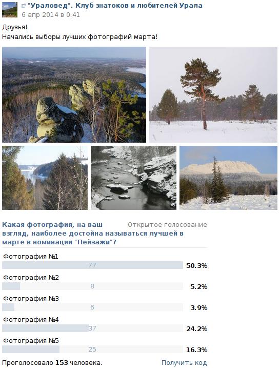 """Результаты конкурса """"Фото месяца - март 2014"""" в номинации """"Пейзажи"""""""
