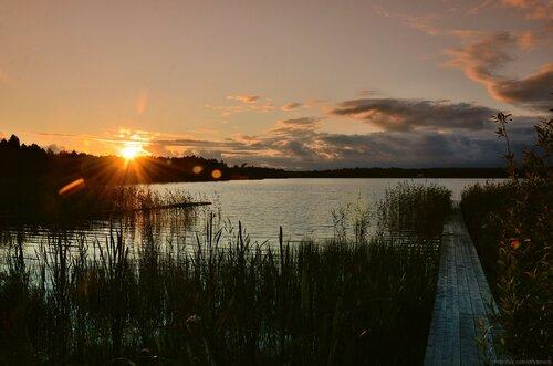 Закат на Шолпинском озере