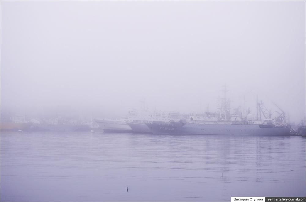 Севастополь в тумане