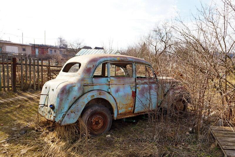 Заброшенный Москвич-400
