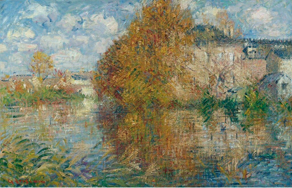 The House at Cau on the Banks of the Eure,  Autumn, 1929.jpg