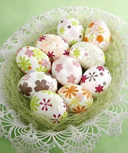 Скрапбукинговые пасхальные яйца