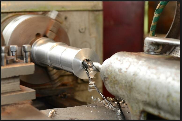 machining on a lathe