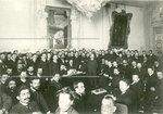 Заседание председателей печати о распределении мест в Государственной Думе  в Мариинском Дворце.
