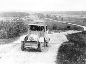 Бронированный автомобиль батальона (вид спереди).