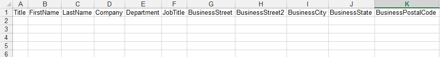 Как при помощи Excel импортировать данные в Outlook Contacts