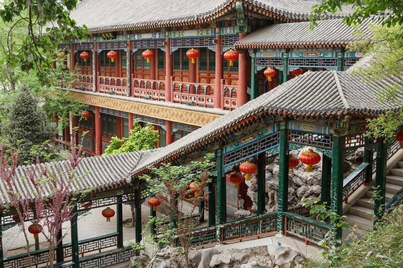 Дом и галерея, парк Дагуаньюань, Пекин