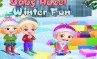 Девочка Хейзел зимние приключения