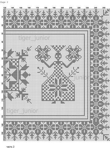 Часть 2 - Схема вышивки «