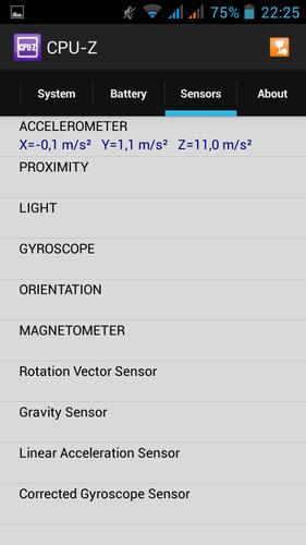 CPU-Z sensors
