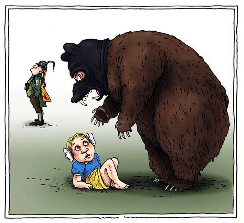 Европейский охотник и злобный русский медведь (Joep Bertrams)