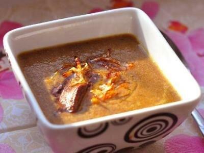Крем-суп из шампиньонов и печени