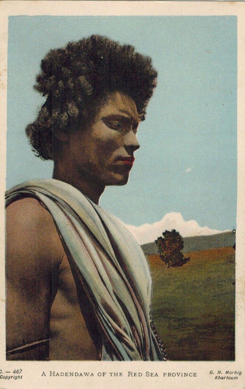 1910. Человек из племени хадендаува. Судан