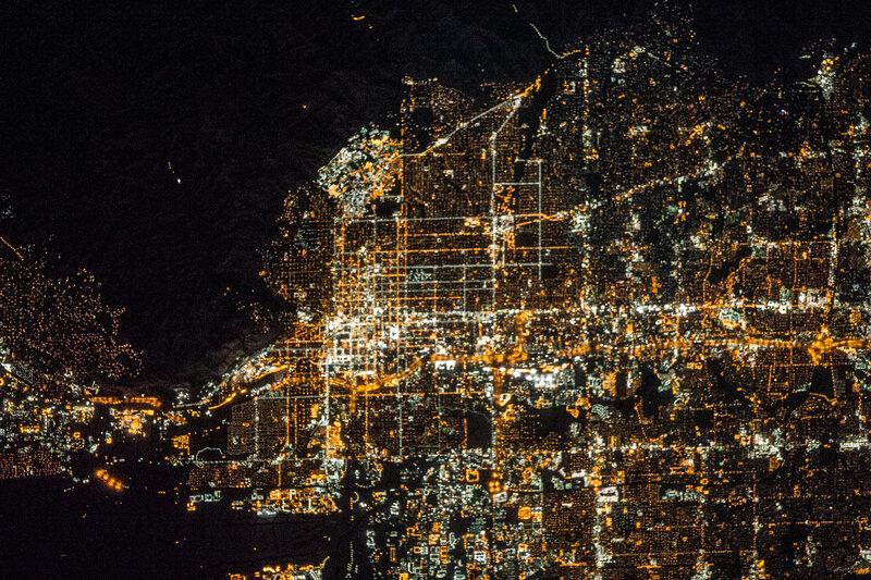 Солт-Лейк-Сити ночью