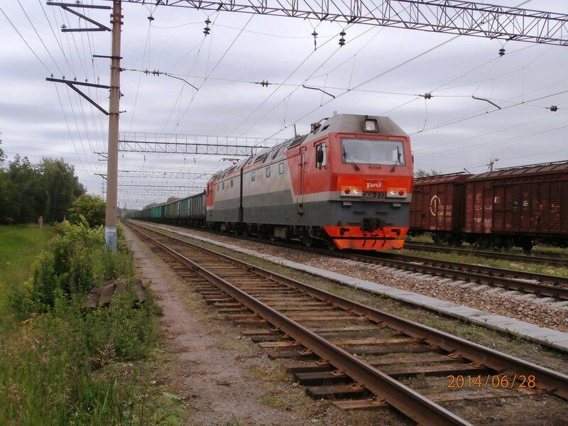 Электровоз 2ЭС6-273 с нечётным грузовым