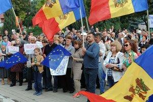 В Бельцах прошел протест платформы «DA»