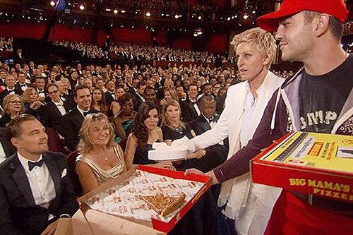 Российскому разносчику пиццы удалось заработать 1000 долларов на церемонии «Оскар»