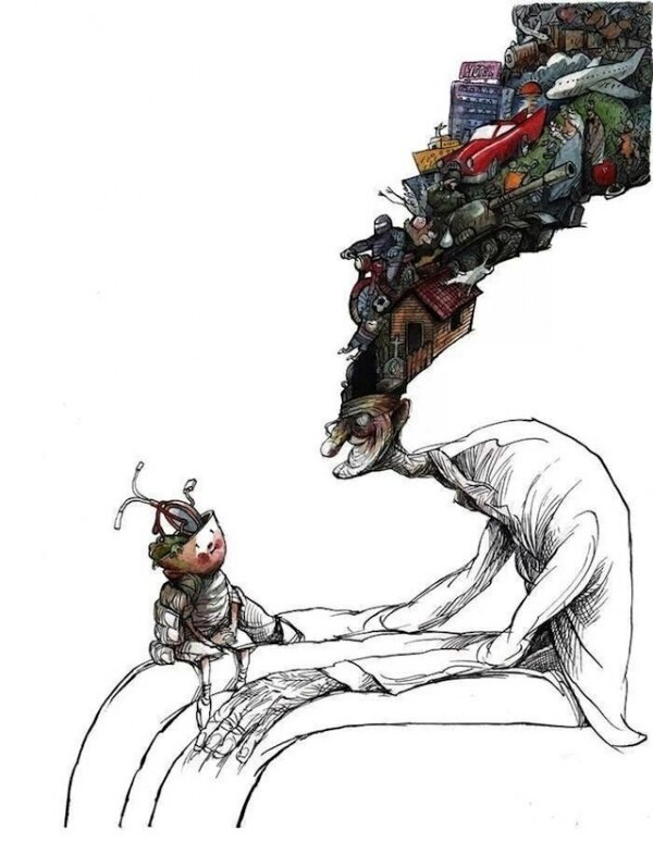 Сюрреалистичная и обескураживающая ирония карикатуриста Анхеля Болигана. 25 картинок.