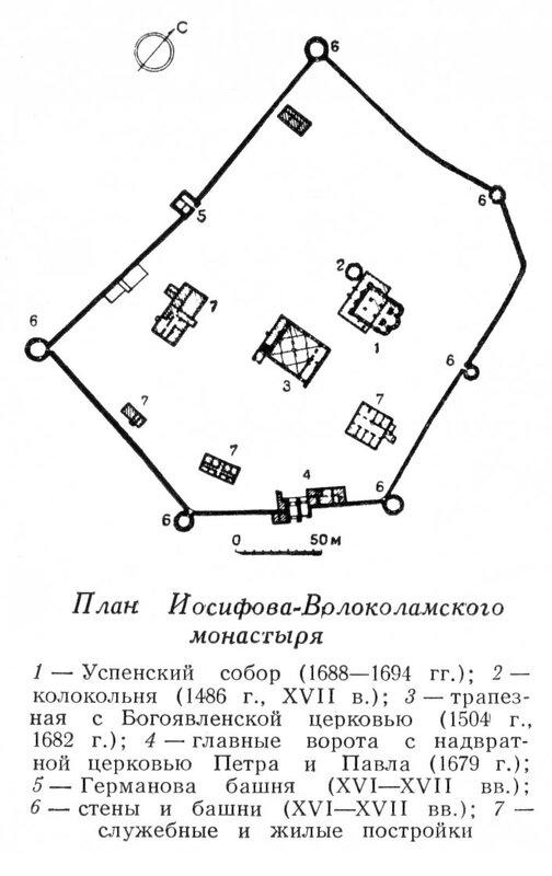 План Иосифо-Волоколамского монастыря