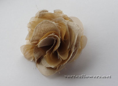 Как сшить цветок из ткани