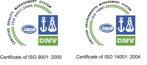 Независимые сертификаты безопасности производства и экологической стандартизации