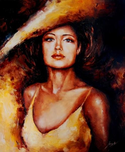 Женщина в красном. Польская художница Elzbieta Broz