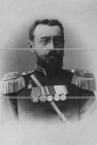 Армейский подполковник артиллерии в форме 1882-1907 гг. (портрет).