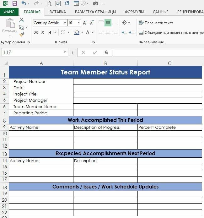 Рис. 1. Отчет о проделанной работе, составляемый непосредственными исполнителями проекта