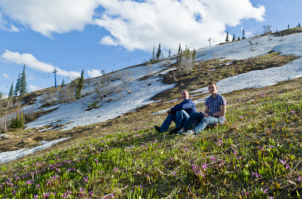 Фото 13. На вершине горы Зеленая - еще снег... И весна уже... Отчет о поездке выходного дня на машине