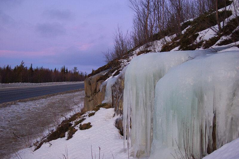 Ледопад где-то на М18